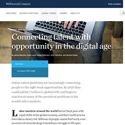 Connecting talent with opportunity in the digital age