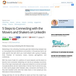 5 Steps to Connecting with the Movers and Shakers on LinkedIn