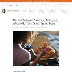 The Connection between Sleep and Eating