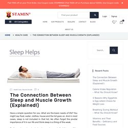 Connection Between Sleep and Muscle Growth