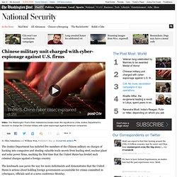 Etats-Unis annoncent premières accusations contre l'étranger dans le cadre de cyberspying - Le Washington Post