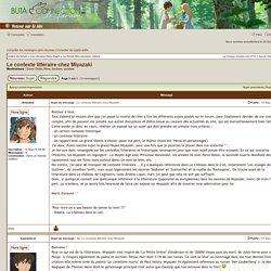 Consulter le sujet - Le contexte littéraire chez Miyazaki