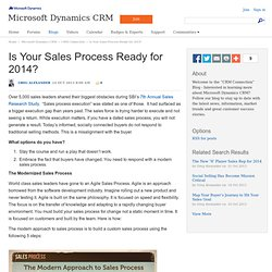 Is Your Sales Process Ready for 2014? - CRM Connection - Microsoft Dynamics CRM