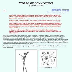 Words of Connection - Palavras Conectivas do Inglês