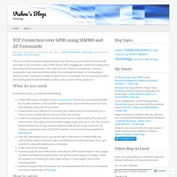 TCP Connection over GPRS using SIM900 and AT Commands