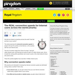 Royal Pingdom » The REAL connection speeds for Internet users across the world (charts)