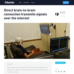 Direct brain-to-brain connection transmits signals over the internet
