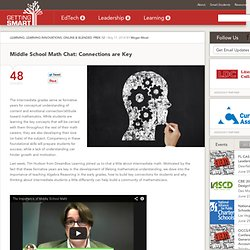 Middle School Math Chat: Connections are Key - Getting Smart by Megan Mead - algebra, Dreambox, mathchat