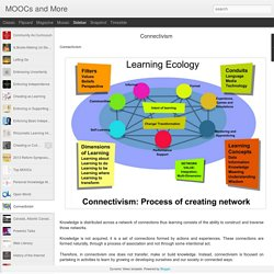 MOOCs and More: Connectivism