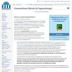 Connectivisme (théorie de l'apprentissage)