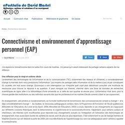 Connectivisme et environnement d'apprentissage personnel (EAP)