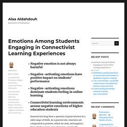 Emotions Among Students Engaging in Connectivist Learning Experiences – Alaa Aldahdouh