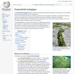 Connectivité écologique