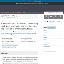 Changes in cortical network connectivity with long-term brain-machine interface exposure after chronic amputation