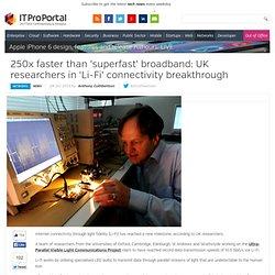 250x faster than 'superfast' broadband: UK researchers in 'Li-Fi' connectivity breakthrough