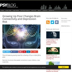 Growing Up Poor Changes Brain Connectivity and Depression Risk