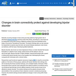 Changes in brain connectivity protect against developing bipolar disorder