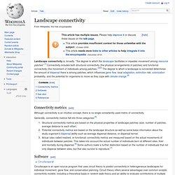 Landscape connectivity