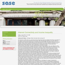 Paper: Internet Connectivity and Income Inequality (27th Annual Meeting)