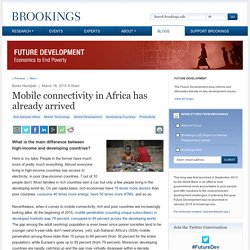 Mobile connectivity in Africa has already arrived