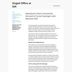 Global Maritime satellite internet Services – Singtel Office at SEA