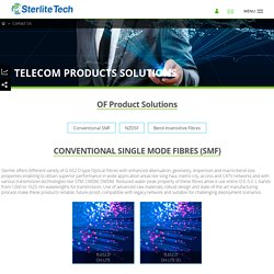 Optical Fiber DWDM Connectivity in Optical Fiber – Sterlite Technologies