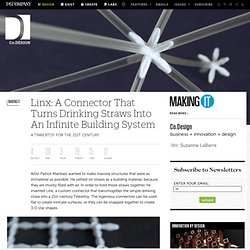 Linx: A Connector That Turns Drinking Straws Into An Infinite Building System