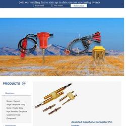 Connector Pin Insert, Geophone Manufacturer - Seis Tech - Seis Tech Inc.