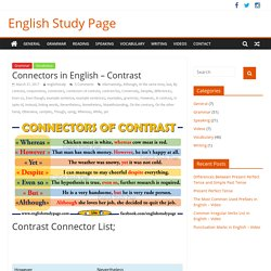Connectors in English – Contrast – English Study Page
