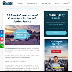33 Connectors In French For Smooth Speech – I Will Teach You A Language