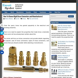 How To Choose Right Brass Connectors and Manufacturers! ~ Emart Spider