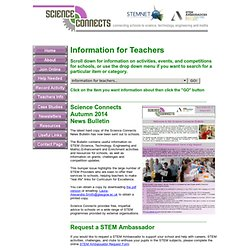 Science Connects - Information for Teachers