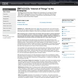 "2015-03-31 IBM Connects ""Internet of Things"" to the Enterprise"
