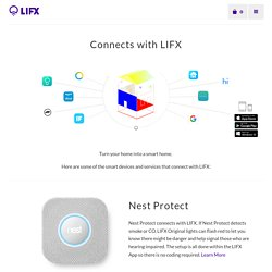 Connects with LIFX