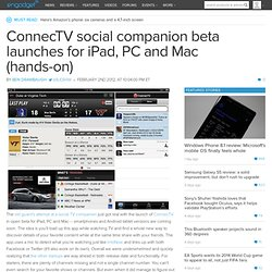 ConnecTV social companion beta launches for iPad, PC and Mac (hands-on)