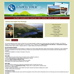 Galway Tour Company - Day Tours of Galway City, Cliffs of Moher & Burren, Connemara & Cong, Aran Islands, ...