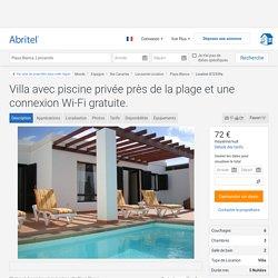 Villa avec piscine privée près de la plage et une connexion Wi-Fi gratuite. - Lanzarote