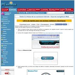 Tester la vitesse de sa connexion Internet - Tous les navigateurs Web