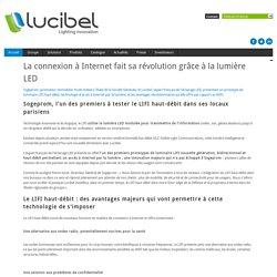 La connexion à Internet fait sa révolution grâce à la lumière LED - Accueil - Lucibel