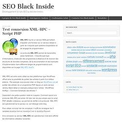 XML-RPC Test connexion - Script PHP