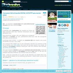 Connexion SSH et transfert RSYNC, SCP, SFTP sans mot de passe