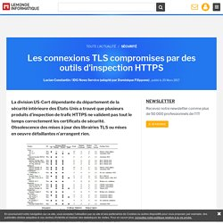 Les connexions TLS compromises par des outils d'inspection HTTPS