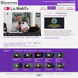 Les CDI à l'ère du numérique - Didier Vin-Datiche - Connexions: les conférences - CANOPE - CRDP d'Amiens - Savoirs TV - La WebTv