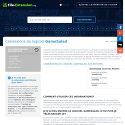 Connexions du logiciel GameSalad