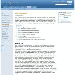 Connexions - XML Languages