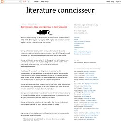 Bokrecension: Möss och människor