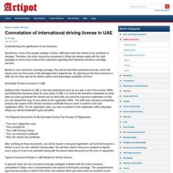 Connotation of international driving license in UAE