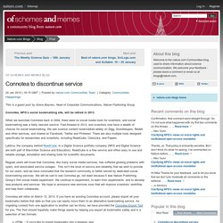 Connotea to discontinue service : Of Schemes and Memes Blog
