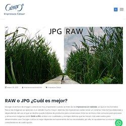 □Conoce cómo escoger entre un archivo RAW o JPG