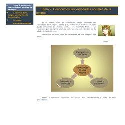Tema 2. Conocemos las variedades sociales de la lengua